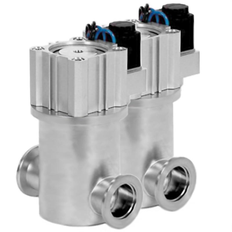 Прямоточные вакуумные клапаны с пневмоприводом
