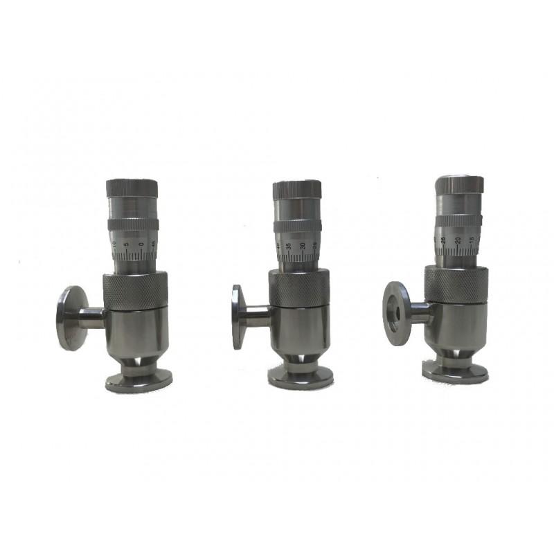 Вакуумный натекатель (клапан напуска) KF16 ручной прецизионный GW-J2(CF), DN=0.8, нерж. сталь, CBVAC, арт. 2702