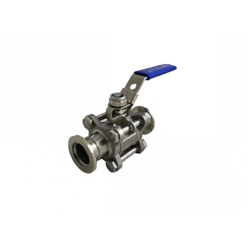 Прямоточный клапан KF16 ручной, шаровой (нержавеющая сталь)