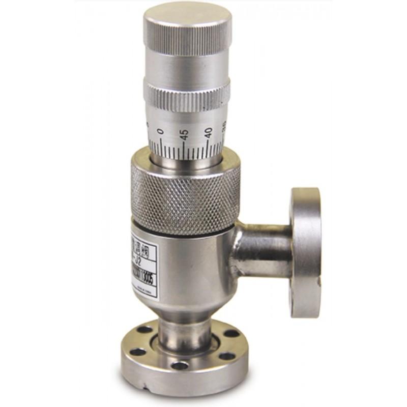 Вакуумный натекатель (клапан напуска) CF16 ручной прецизионный GW-J2(CF16), DN=0.8, нерж. сталь, CBVAC, арт. 2705