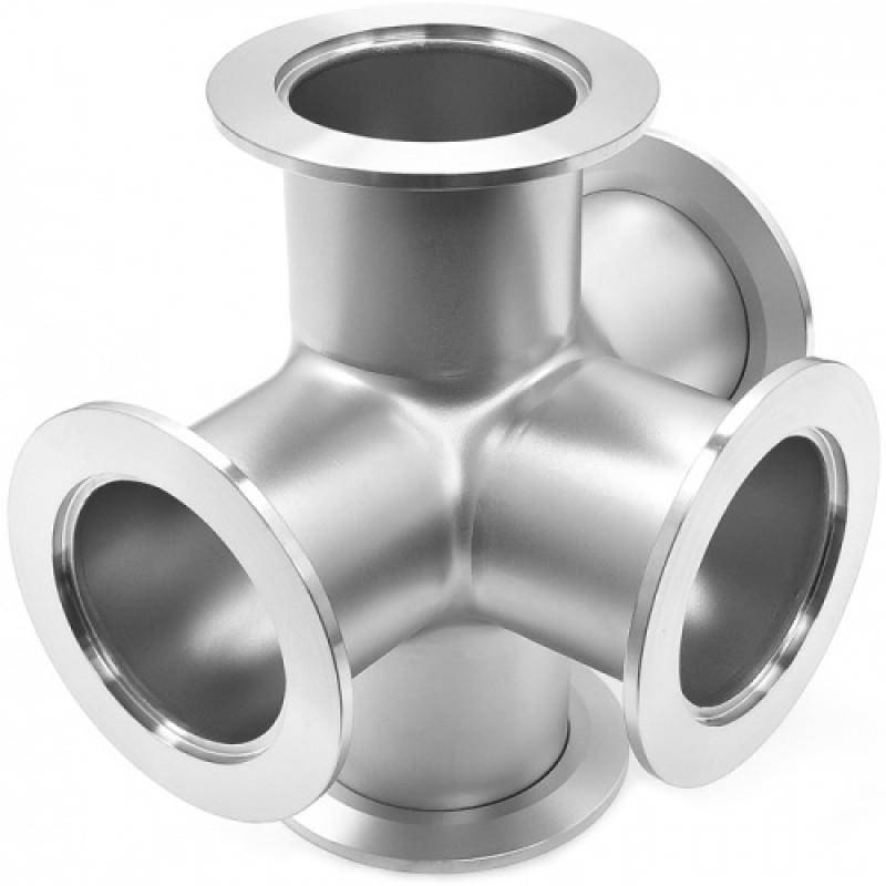 Пятерик с фланцами ISO-K 100 длиной 209,8 мм, нержавеющая сталь 304L