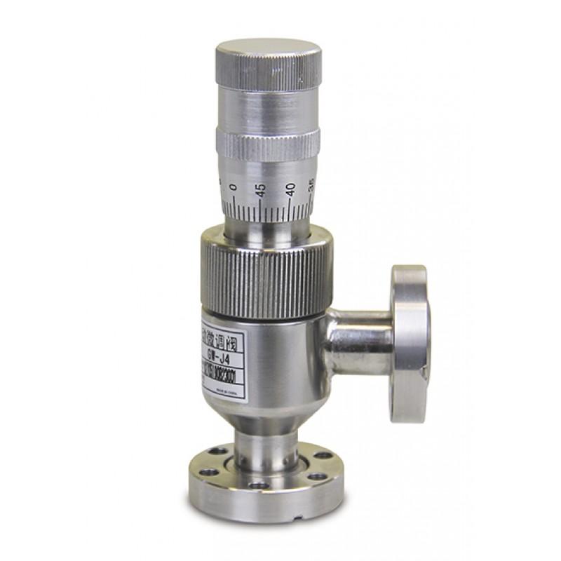 Вакуумный натекатель (клапан напуска) KF16 ручной прецизионный GW-J4(CF), DN=0.8, нерж. сталь, CBVAC, арт. 2705