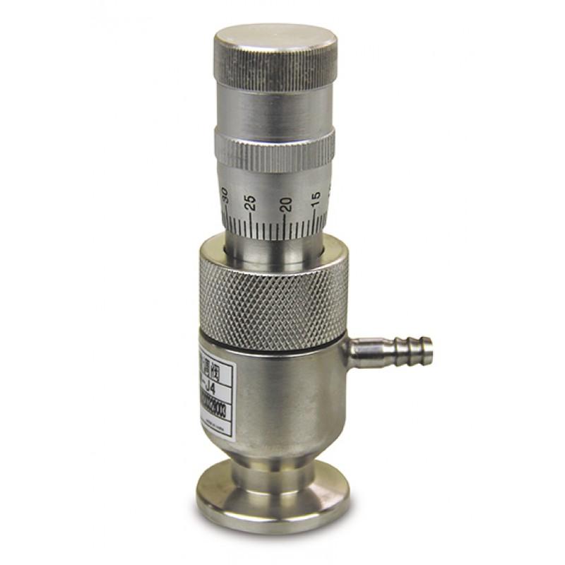 Вакуумный натекатель (клапан напуска) KF16 ручной прецизионный GW-J4(CF), DN=0.8, нерж. сталь, CBVAC, арт. 2706