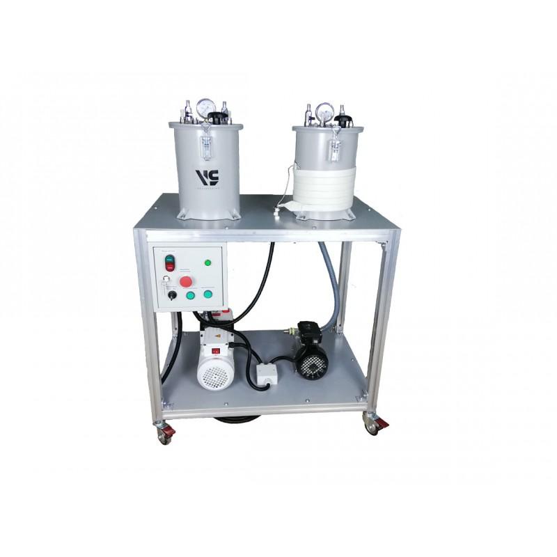 Мобильная вакуумная установка VLSdeg-10/8 для дегазации и вакуумной инфузии