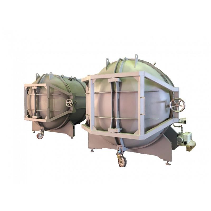 Вакуумная сушильная камера диаметр 2 м, длина 2 м (углеродистая сталь 09Г2С)