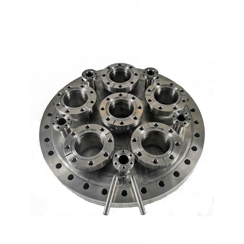 Мультипортовый фланец CF275-6*CF63-5*CF16 с водяной рубашкой (нерж. сталь)
