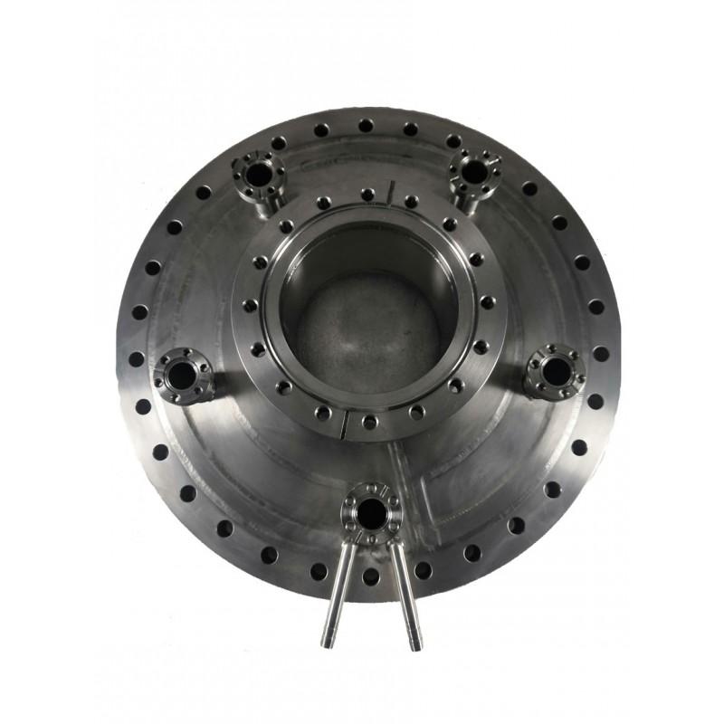 Мультипортовый фланец CF275-CF160-5*CF16 с водяной рубашкой (нерж. сталь)