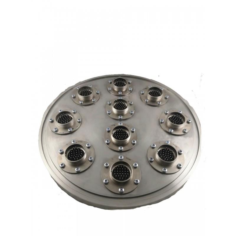Герметичные высоковакуумные разъемы на заглушке ISO-K 250