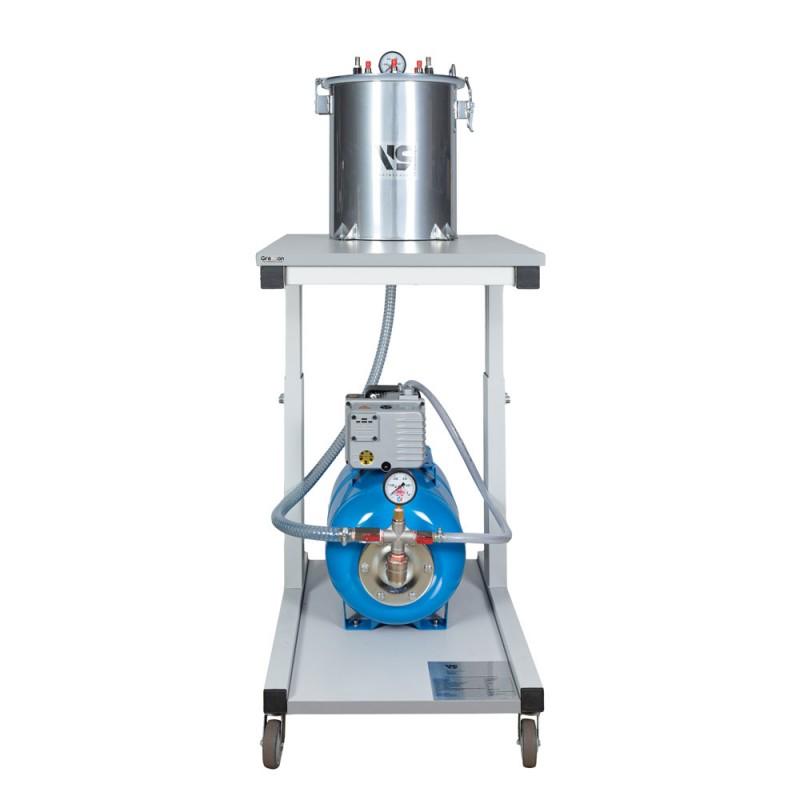 Мобильная установка VLSin-20/8/R24 для вакуумной инфузии с ресивером