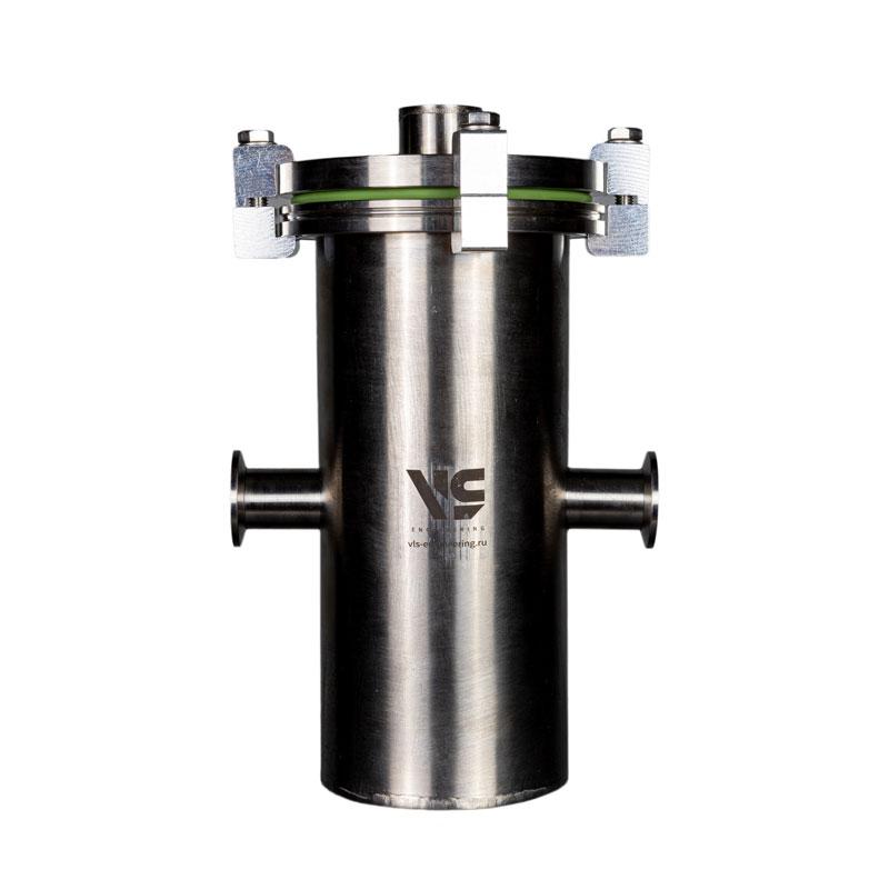 Ловушка азотная заливная KF25, объем 1 литр, кол-во фланцев KF25 - 2 шт, нерж. сталь