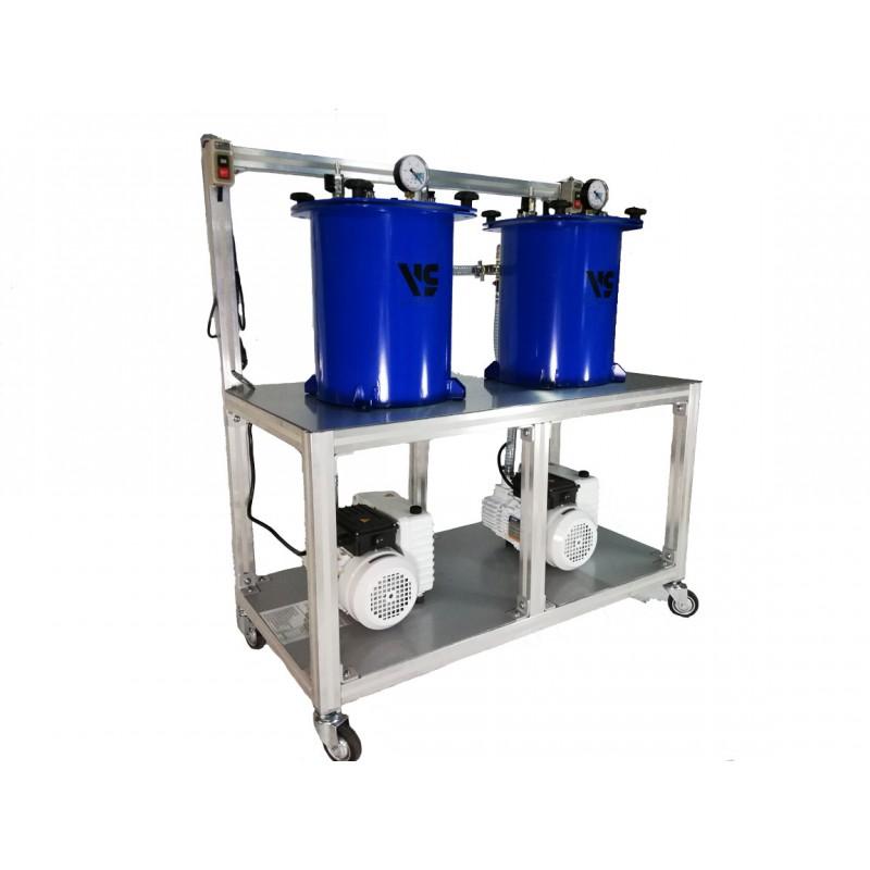 Мобильная установка для вакуумной инфузии VLSin-20/20x2
