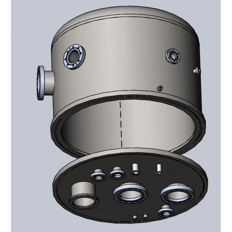 Вакуумная камера ДУ600 (колпак+под) для напылительной установки с водяным охлаждением