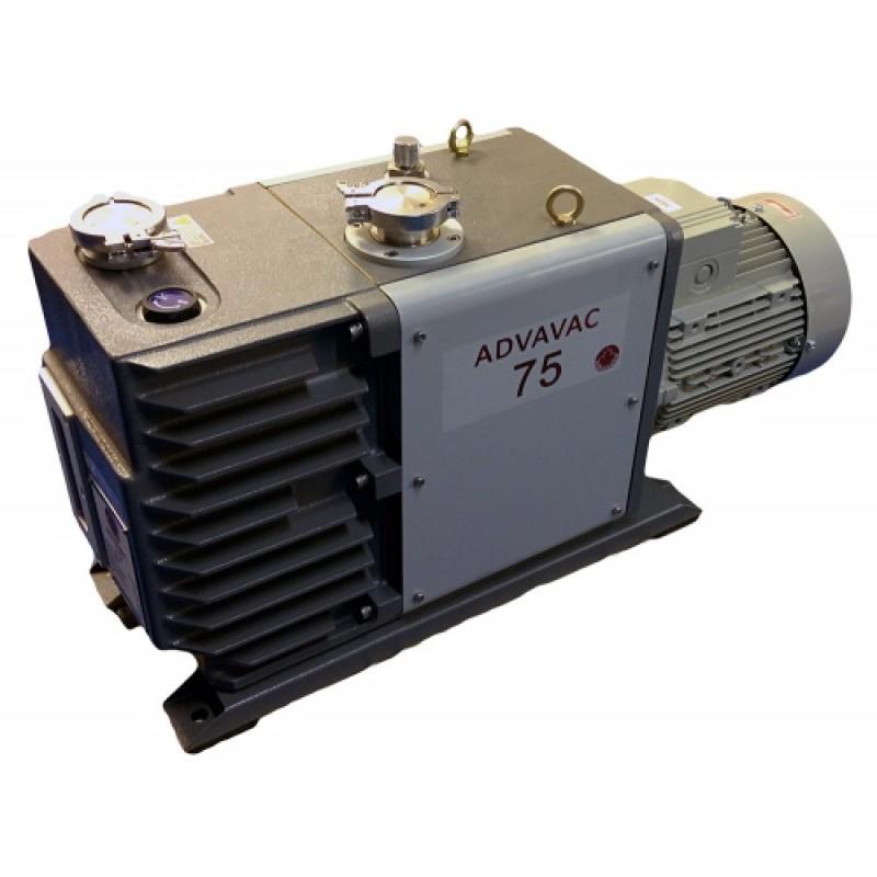 Насос вакуумный пластинчато-роторный двухступенчатый ADVAVAC-75, трехфазный, 220/380В
