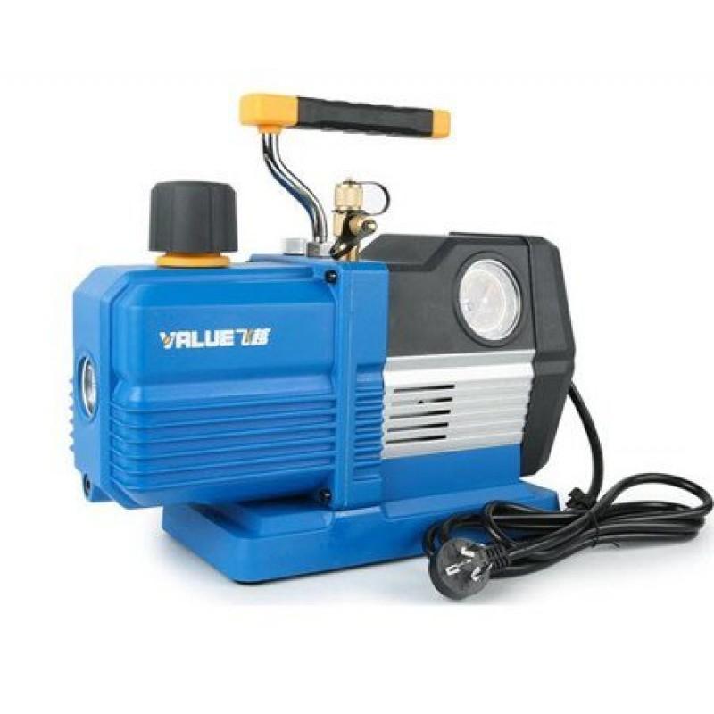 Вакуумный двухступенчатый насос Value VRP-6DV (170 л/мин) с механическим вакуумметром