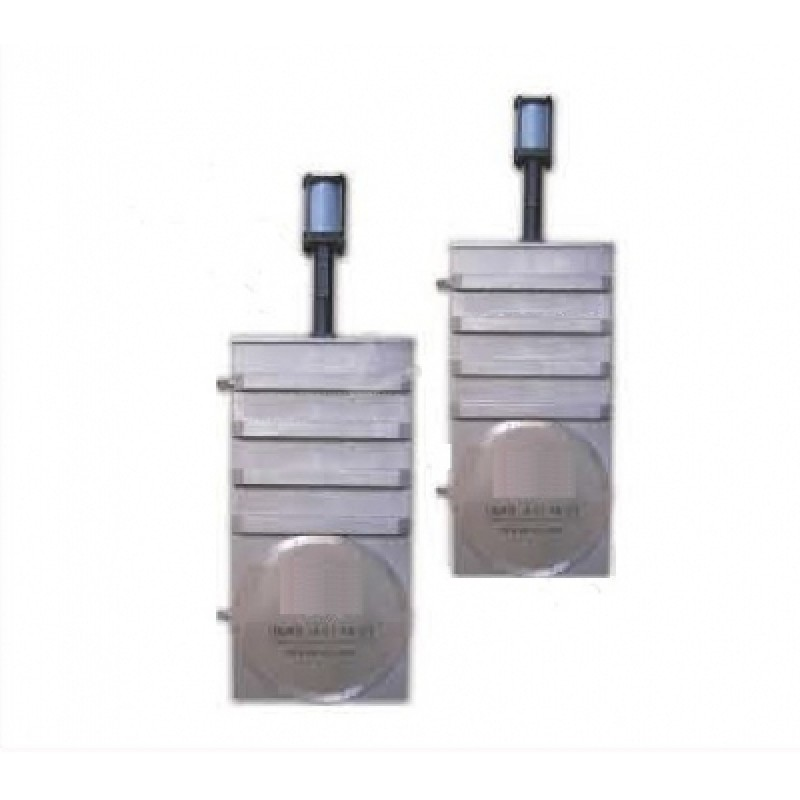 Вакуумный шиберный затвор ССQ-630B, фланец ISO-F, пневмопривод