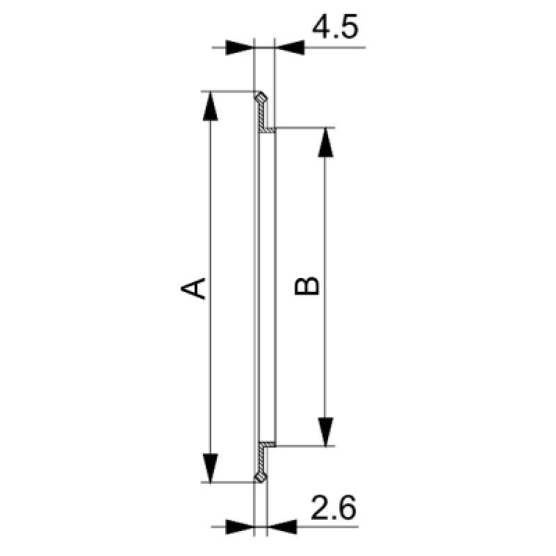Сверхвысоковакуумное уплотнительное кольцо ISO-K 250
