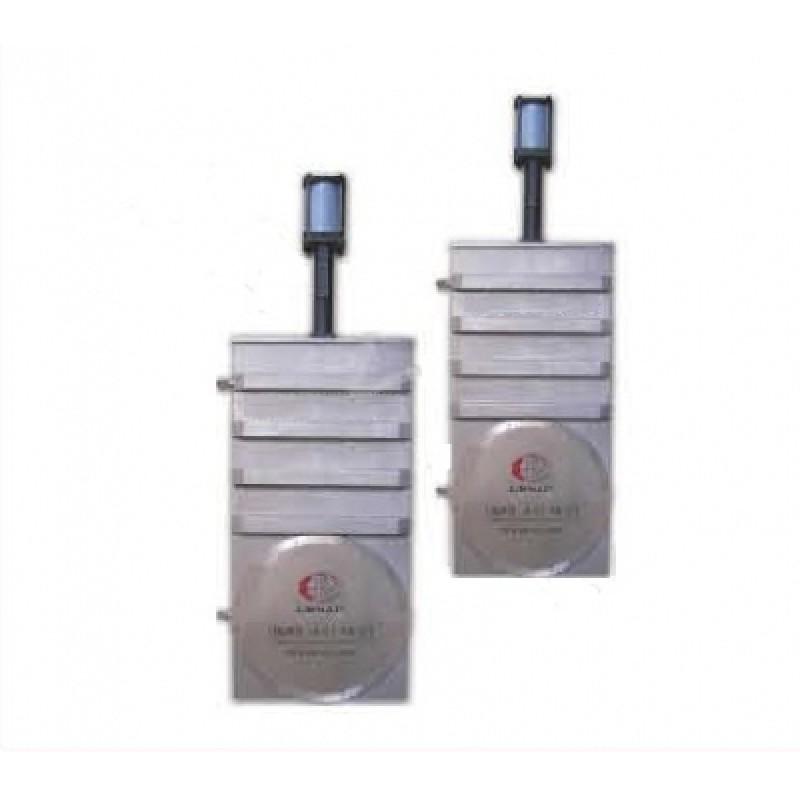 Вакуумный шиберный затвор ССQ-800B, фланец GB-LP, пневмопривод