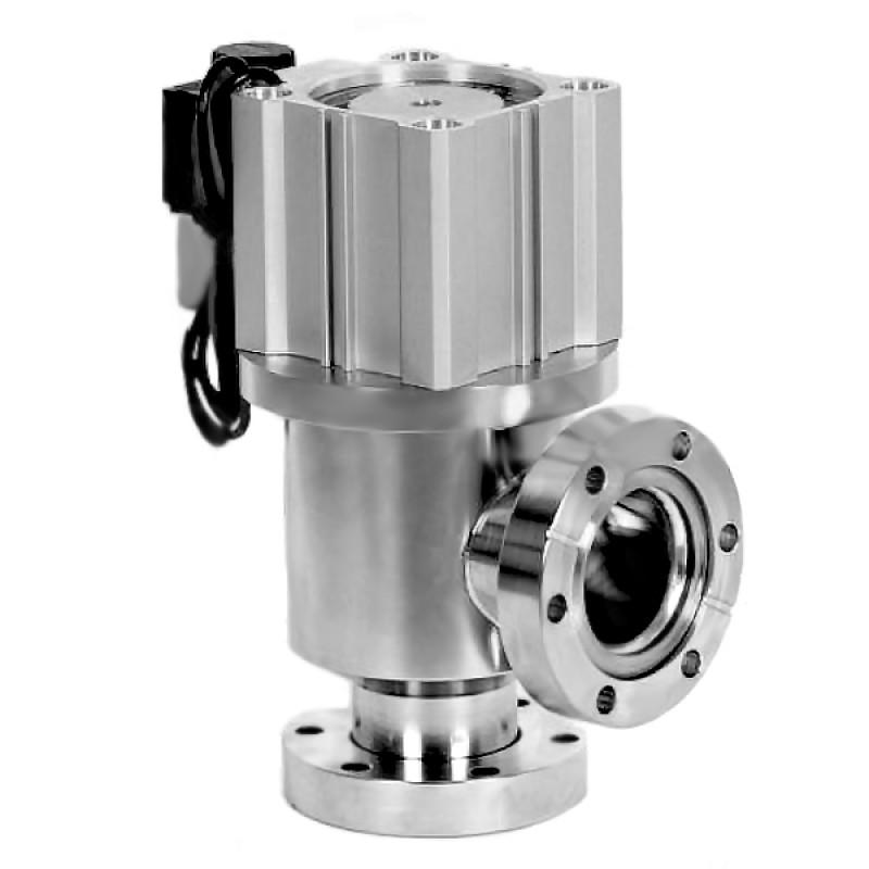 Угловой клапан GDQ-J25B CF25 с пневмоприводом, сильфонное уплотнение (нержавеющая сталь)