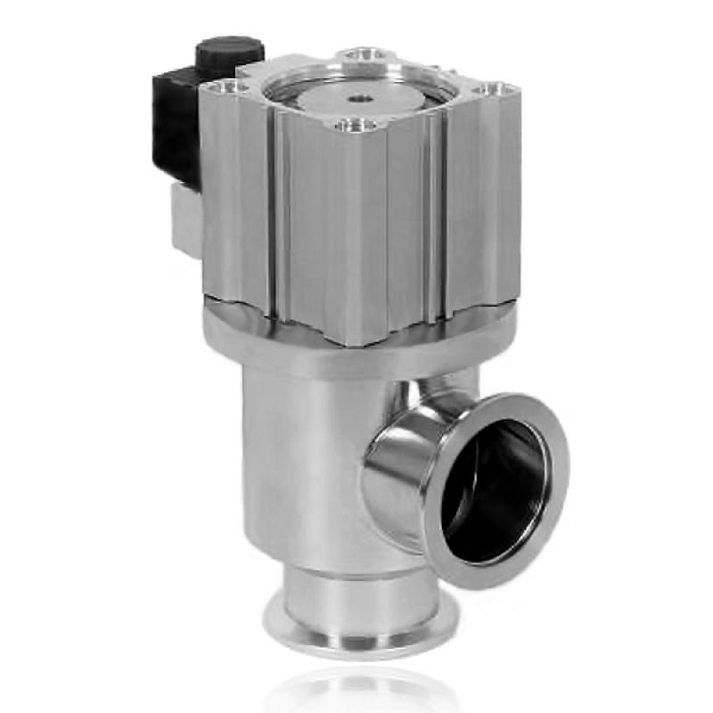 Угловой клапан GDQ-J40 KF40 с пневмоприводом, витоновое уплотнение (нержавеющая сталь)
