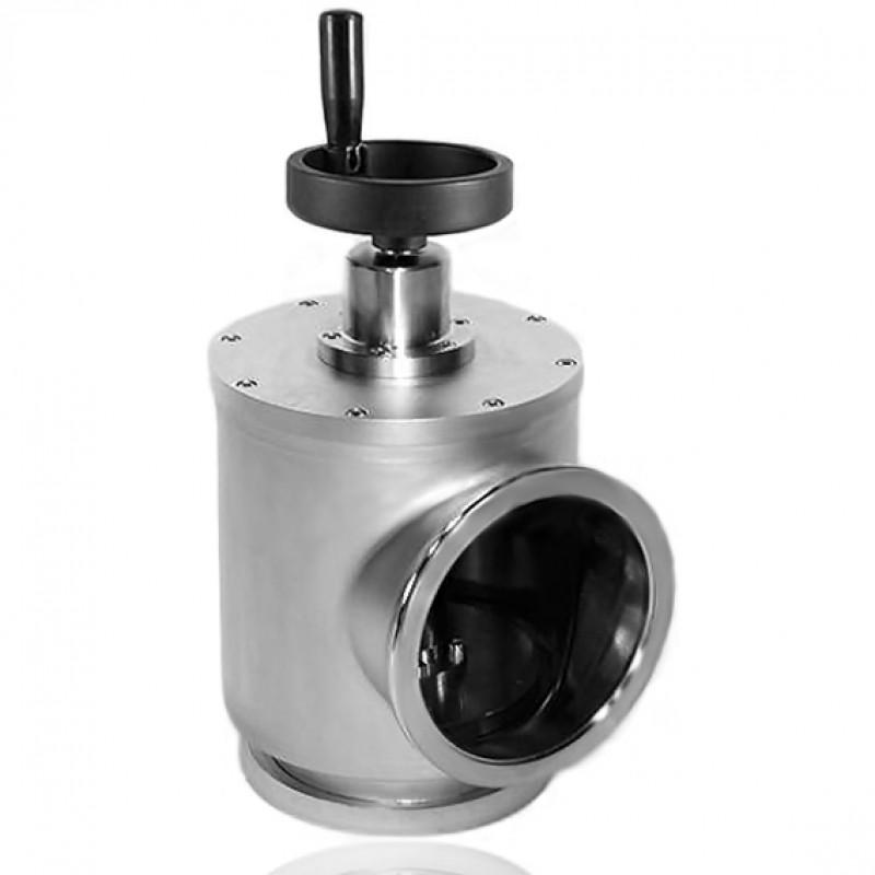 Угловой клапан GD-J160 ISO-K 160 ручной, витоновое уплотнение (нержавеющая сталь)