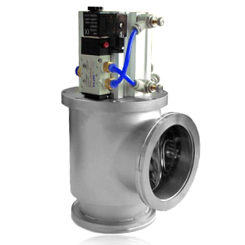 Угловой клапан GDQ-J200 ISO 200 с пневмоприводом, витоновое уплотнение (нержавеющая сталь)