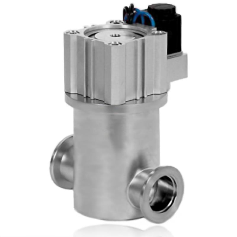 Прямоточный клапан GDQ-16 KF16 с пневмоприводом, витоновое уплотнение (нержавеющая сталь)