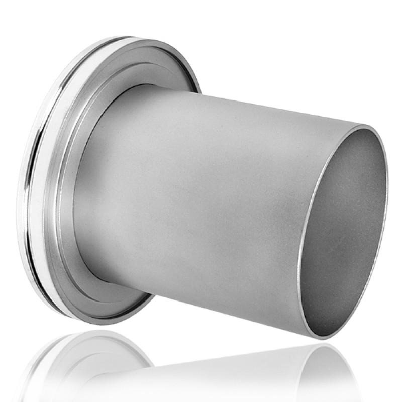 Патрубок под сварку ISO100, L=100 мм ( нержавеющая сталь )